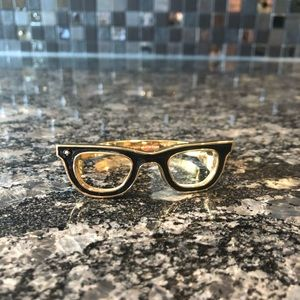 Kate Spade Black and Gold Glasses Bracelet